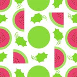 Watermelon.Seamless pattern abstract background. Watermelon pattern vector stock image. Abstract fruit pattern Royalty Free Stock Images