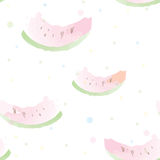 Watermelon seamless pattern artistic Royalty Free Stock Images