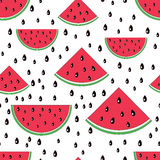Watermelon seamless pattern. Royalty Free Stock Image