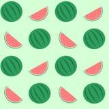 Watermelon seamless pattern background illustration Stock Photography