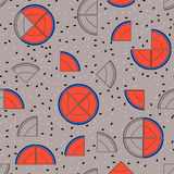 Watermelon seamless pattern. Fashion trendy fabric. Wrapping pap. Er. Gray background Stock Illustration
