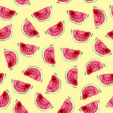 Watermelon seamless pattern. Hand drawn watercolor Royalty Free Stock Image
