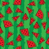 Watermelon seamless pattern vector illustration