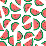 Watermelon Seamless Pattern Royalty Free Stock Images