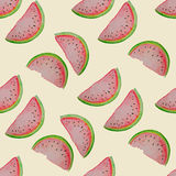 Watermelon seamless pattern. Watercolor vector illustration Stock Photography