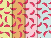 Watermelon seamless pattern, watermelon slice. Vector Royalty Free Stock Photography