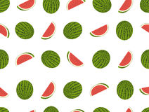 Watermelon seamless vector pattern Stock Photography
