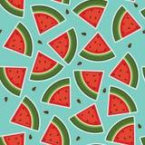 Watermelon seamless wallpaper Stock Photos