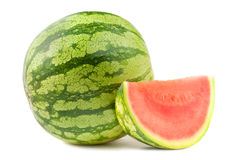 Watermelon and section Royalty Free Stock Photo