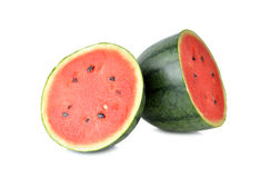 Watermelon with seed on white Royalty Free Stock Photography