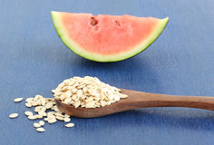 Watermelon Seeds in a Spoon Royalty Free Stock Photo