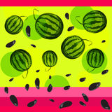 Watermelon and seeds from watermelon. Stock Photography