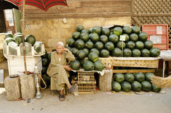 Watermelon seller cairo egypt Stock Photo