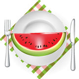 Watermelon served on plate Royalty Free Stock Photos