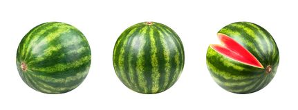 Watermelon set solated. Set of watermelon fruit isolated on white background Stock Images