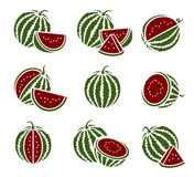 Watermelon set. Vector Royalty Free Stock Photo