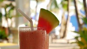 Watermelon shake in UHD stock footage