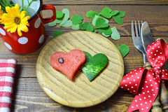 Watermelon in the shape of heart Stock Images