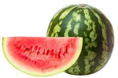 Watermelon with slice Stock Image