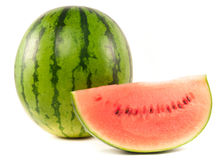 Watermelon and slice Royalty Free Stock Image