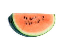 Watermelon slice. Appetising watermelon slice Stock Photos