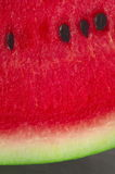 Watermelon slice closeup Stock Photography