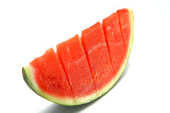 Watermelon slice cuted Stock Photos