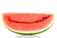 Watermelon slice front view Royalty Free Stock Photos