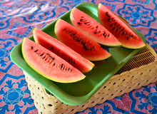 Watermelon slice Stock Photography