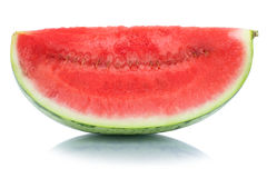 Watermelon slice fruit summer isolated on white stock photo