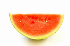 Watermelon slice isolated. Royalty Free Stock Images