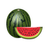 Watermelon with slice isolated Stock Image
