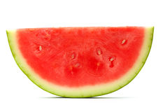 Watermelon slice isolated Royalty Free Stock Images