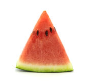 Watermelon slice isolated on white background Stock Photos