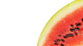 Watermelon slice isolated on white background Royalty Free Stock Images