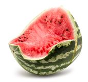 Watermelon slice isolated on a white background Royalty Free Stock Images