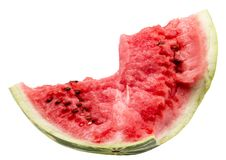 Watermelon slice isolated on a white background Stock Photo