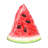 Watermelon slice isolated on white Royalty Free Stock Photography