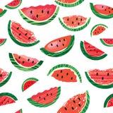 Watermelon slice , seamless pattern Stock Image