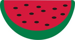 Watermelon slice with seams. Vector Stock Photography