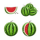 Watermelon and slice Royalty Free Stock Images