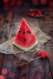 Watermelon slice Stock Image