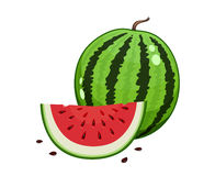 Watermelon and slice Royalty Free Stock Photography