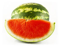 Watermelon and a slice of watermelon Stock Photography