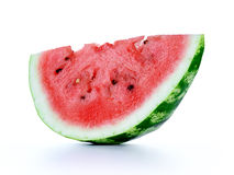 Watermelon slice on white background. Royalty Free Stock Photo