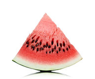 Watermelon slice on white background. Royalty Free Stock Photography