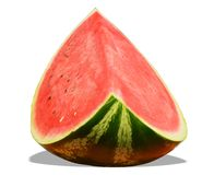 Watermelon slice on white background Stock Photography