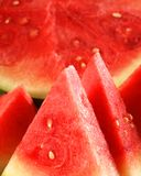 Watermelon Fruit. Sliced watermelon is red, fresh and nice. Red summer fruit royalty free stock photo