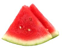 Watermelon. Sliced watermelon on white isolated background stock photos