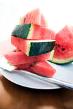 Watermelon slices. Sliced watermelon - extra bright Royalty Free Stock Images